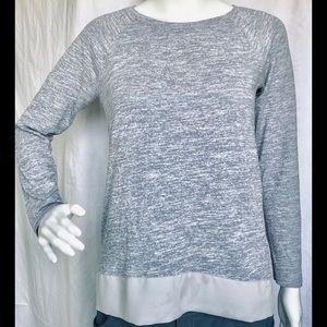 JCREW Long Sleeve Top XS fits like Sm, Gray
